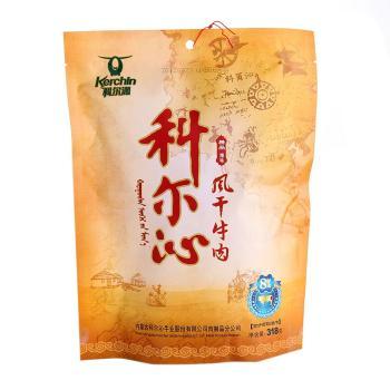 Kerchin科尔沁风干牛肉干辣味318g 低脂肪高蛋白,味道佳美,携带方便。