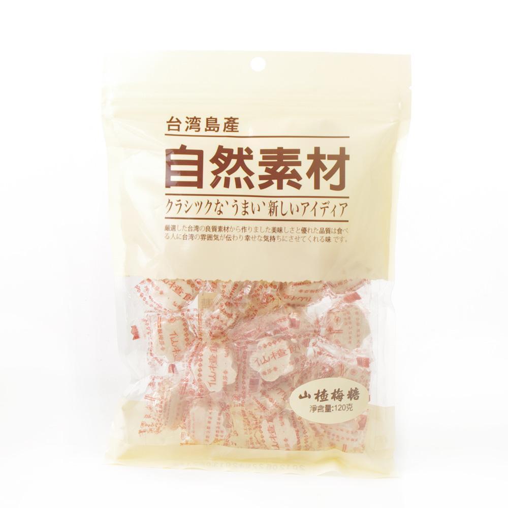 自然素材台湾岛产山楂梅糖120g【价格