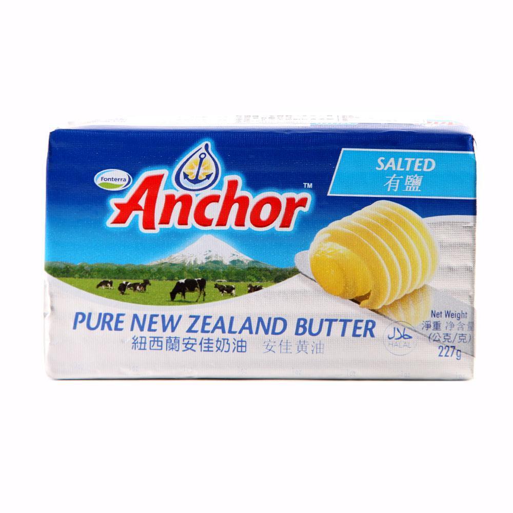 安佳黄油锡纸装(有盐)227g--新西兰进口