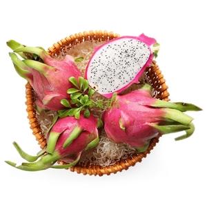 越南白肉火龙果2个装(大果 0.8-1kg) 热情火龙果 甜蜜好口味